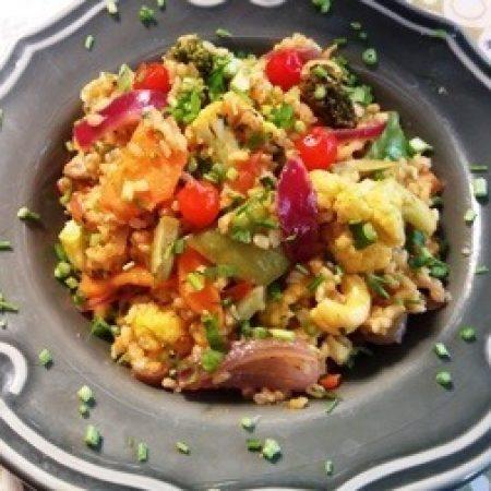 19- Paella vegetariana.
