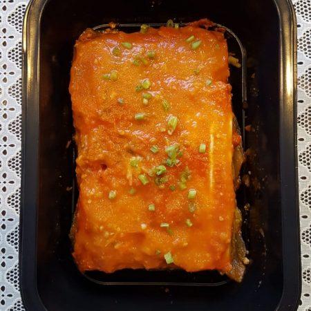 12- Lasanha fit de legumes grelhados ( abobrinha, berinjela, acelga) ao molho de tomate.